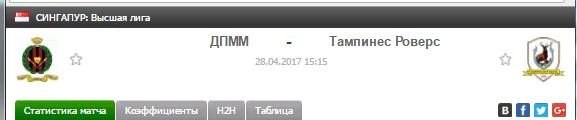 Прогноз на футбол на матч ДПММ - Тампинес