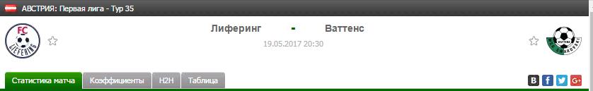Прогноз на футбол на матч Лиферинг - Ваттенс