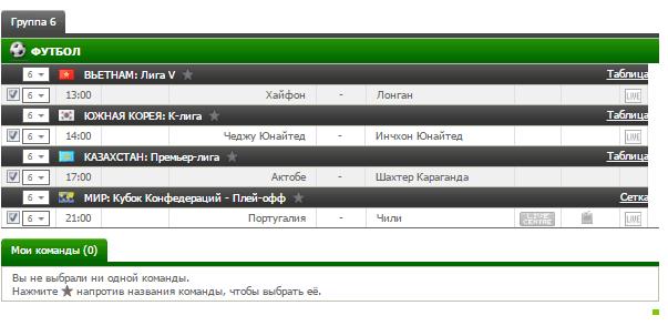 Бесплатный футбольный прогноз на 28.06.2017