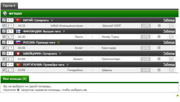 Бесплатный футбольный прогноз на 10.08.2017