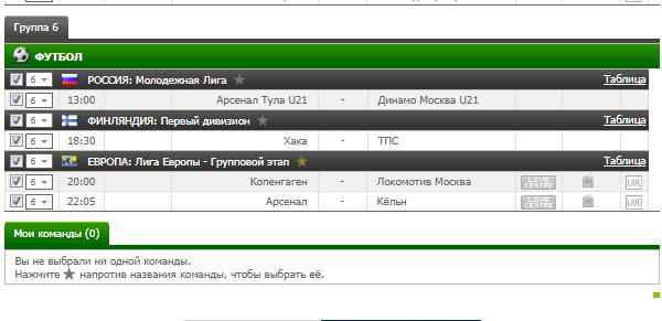 Бесплатный футбольный прогноз на 14.09.2017