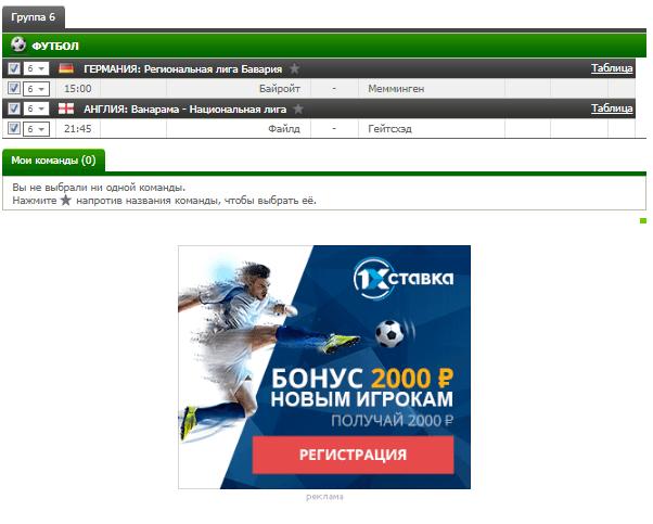 Бесплатный футбольный прогноз на 3.10.2017